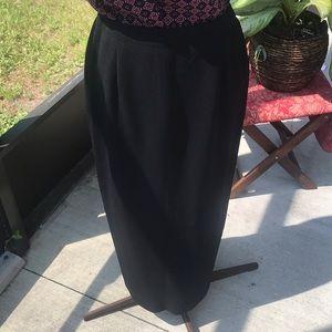 Jones New York Black maxi work skirt new